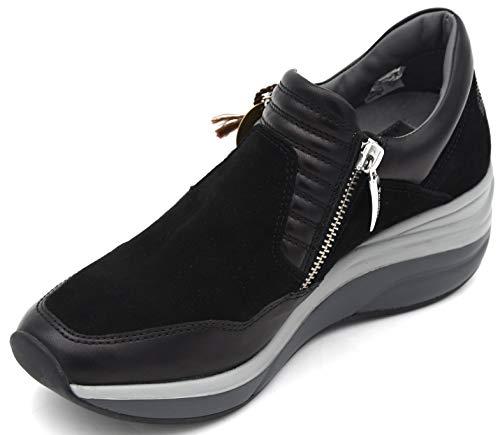 Cesare Paciotti 4US Damen Turnschuhe Freizeitschuhe Sneaker Casual Art. 00ED2WCA 35 Nero Black