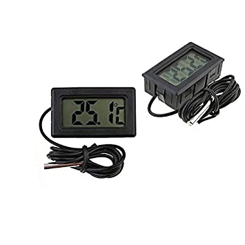 Hydroponics Digital Thermometer Grow tent hygrometer humidity and temperature ((black) Small Digital Thermometer) Amazon.co.uk Garden u0026 Outdoors  sc 1 st  Amazon UK & Hydroponics Digital Thermometer Grow tent hygrometer humidity and ...