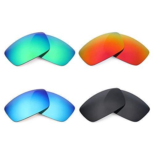 Mryok polarisierte Ersatzgläser für Spy Optic Logan Sonnenbrille - Stealth Black/Fire Red/Ice Blue/Emerald Green