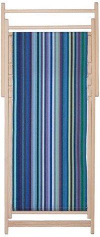 Chaise longue transat chilienne Petite Dani Bleu - Les Toiles du Soleil