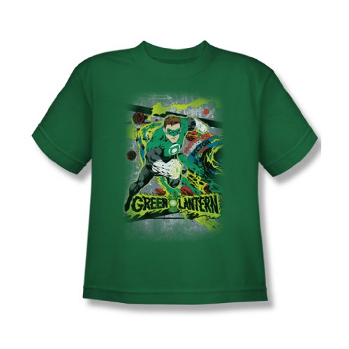Dc Comics - Space Sector 2814 Jugend T-Shirt in Kelly Green Kelly Green