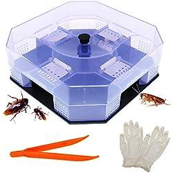 BITEYI Trampa de Cucarachas Ecológico Reutilizable y no Tóxico Captura de Cucarachas,es Seguro para niños y Mascotas