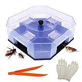 BITEYI Schabe Fallen Kakerlaken Killer Cockroach Catcher Wiederverwendbare und Ungiftige Umweltfreundliche Schädlingsbekämpfung Köder Falle,sicher für Kind und Haustier