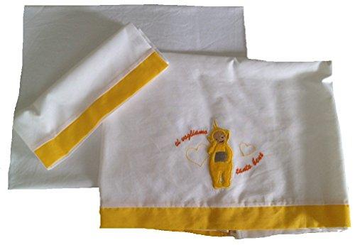 Set Babykleidung Baby Wiege Teletubbies Bettwäsche Lala gelb 12572Kostenloser Versand