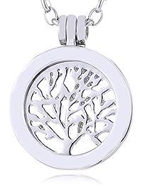 Morella Damen SMALL Coin Träger 23 mm SMALL Coin Anhänger 23 mm und Halskette Edelstahl 70 cm mit Schmuckbeutel