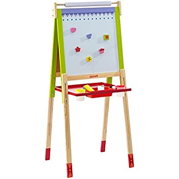 Janod J07582 - Loisir Créatif - Tableau Enfant 4 Pieds Réglables (Bois)