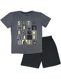 Disney Star Wars - Pijama - para Hombre Gris Gris Oscuro XXL