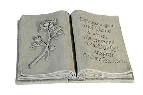 floristikvergleich.de Casa Collection 11254 Buch fürs Grab in steinoptik mit Text, 30 x 20 cm