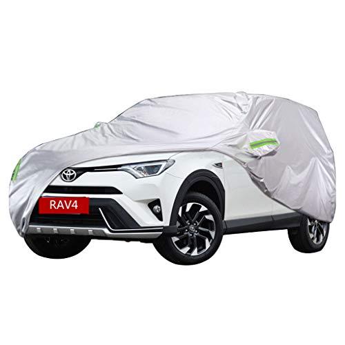 NYDZDM Komplett wasserdichte, atmungsaktive SUV-Autoabdeckung - mit Baumwolle gefüttert - for hohe Beanspruchung - Silber (mittelgroß - for Toyo-TA RAV4) (Size : 2016)