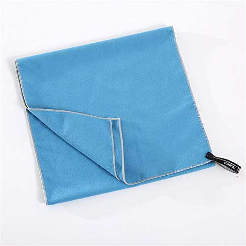 EODUDO-S Fitness Schnelltrocknendes Handtuch Outdoor-Eistuch Einfarbiges Fleece-Sporttuch aus Mikrofaser, Weitere Stile (Farbe : Blau)