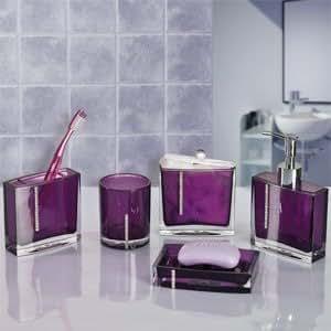 Badezimmer accessoires roma mit strasssteinen lila 5 - Exklusive badezimmer accessoires ...