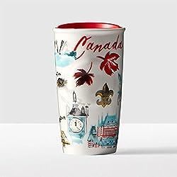Starbucks vaso de doble pared de Canadá Canadá doble pared tumbler- 2016Local colección 10Fl Oz nueva