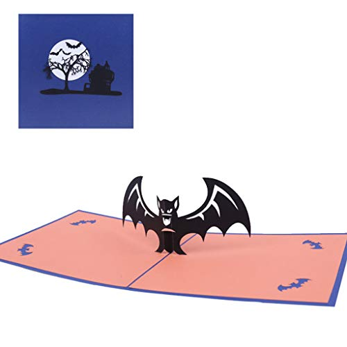 3D Creative Halloween Bat Pop Up Grußkarten Alles -