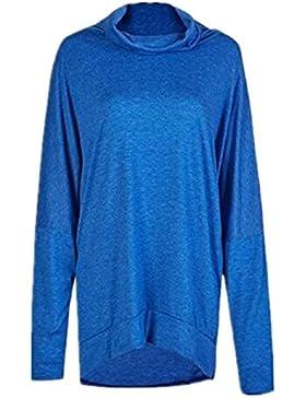 BESTHOO Donna Moda Elegante Manica Lunga Autunno Top Blusa Sciolto Puro Colore Fit Maglietta Moda Casual T-Shirt...