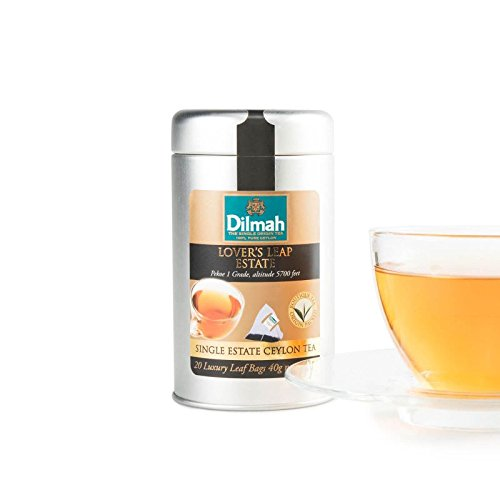 Dilmah Lovers Leap Single Estate Black Tea - 20 bolsitas de té de lujo - Dilmah Sri Lanka Ceylon Pure Black Tea