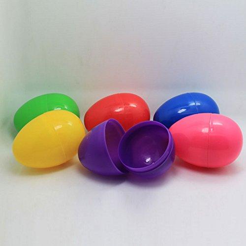 Uova di Pasqua in plastica vuote da riempire per Fai da Te Fare favales Feste Giocattoli di Pasqua per i Bambini Set 6pz-Colori Assortiti, Plastica, 6pcs, 6cm × 4cm