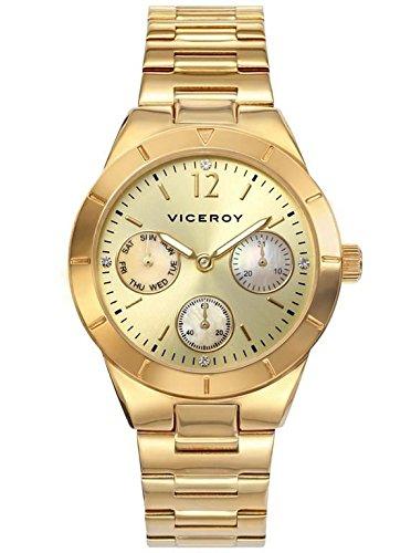 Reloj Viceroy Mujer 40868-25 Acero Dorado Multifunción