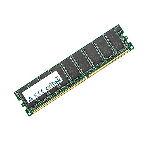 1GB RAM Memory 184 Pin Dimm - 2.5V - DDR - PC2700 (333Mhz) - Unbuffered ECC - OFFTEK -