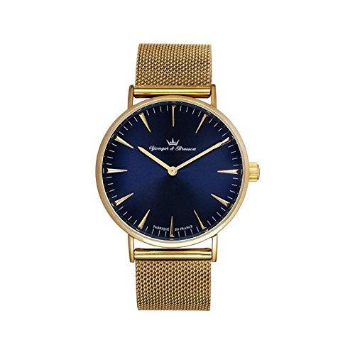Orologio uomo Yonger & Bresson oro e blu–HMP 075-gm