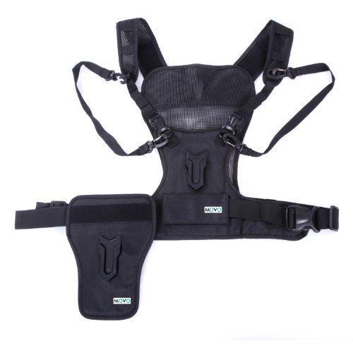 Movo Imbracatura universale Photo MB1000 per trasporto di fotocamere multiple con fondina laterale di supporto