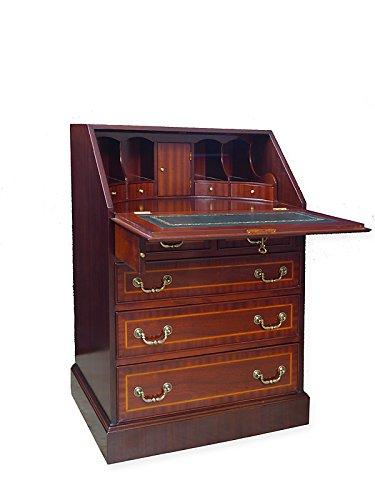 Sekretär Schreibtisch Schreibsekretär englischer Stil Mahagoni furniert (6101)