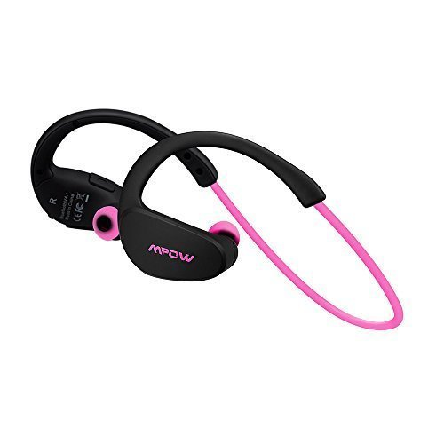 Mpow Cheetah Bluetooth 4.1 Wireless Sport Stereo Kopfhörer mit AptX Technologie für iPhone7 6/6S 6 Plus/6S Plus 5S 5 5C 4S 4, Galaxy S7/S6 Edge S5 S4 Mini usw.(Rosa)