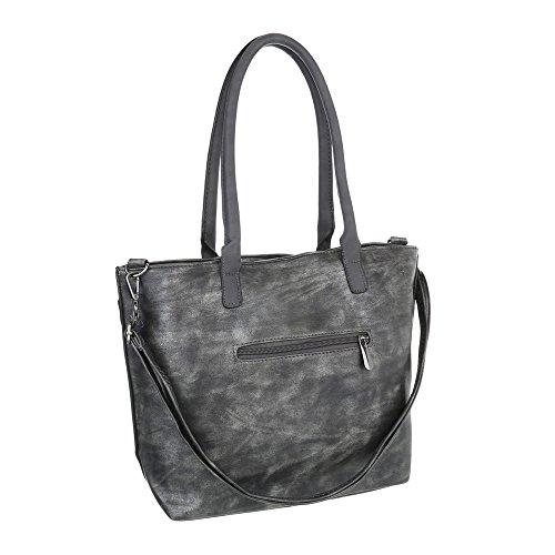 Taschen Handtasche In Used Optik Grau