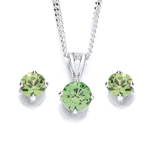 MiChic Jewellery Swarovski Crystal Pendant on 46 cm Silver Chain and Earring Set JNr2Y95j