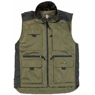 Fortress Mens Multi Pocketed Bodywarmer Waistcoat Fleece Lined for Warmth Lincoln Vest Internal Wallet Pocket Two Lower Patch Pockets Chest Pockets Full Zip Warm Work Walking M,L,XL,XXL,3XL 4