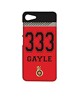 Licensed Royal Challengers Bangalore Chris Gayle Premium Printed Back cover Case for Lenovo Z2 Plus