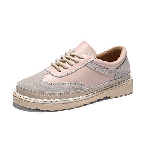 HWF Scarpe donna Primavera casual piatto piatto singolo scarpe stile retrò arte femminile scarpe donna ( Colore : Rosa , dimensioni : 39 ) Rosa