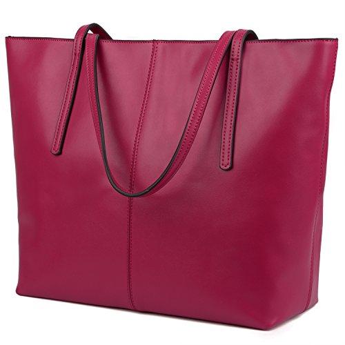 Yaluxe Donna Borse a mano per lavoro /scuola/ viaggio Vero Pelle shopper Stile semplicemente elegante Borse a tracolla pinko