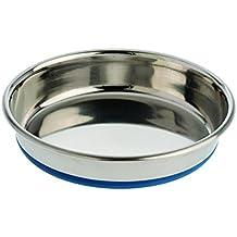 ourpets Premium rubber-bonded gato de acero inoxidable plato 12oz 12oz