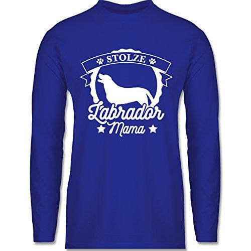 Shirtracer Hunde - Stolze Labrador Mama - Herren Langarmshirt Royalblau