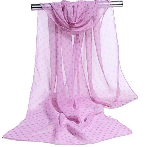 Ameginer Strandtuch Schal Chiffonschal dot dot dot silk print polyester schlank multicolor 160 * 50 cm -