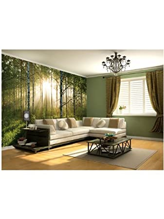 Superior 1Wall Stunning Green Forest Green Trees And Sunrise Wallpaper Wall Mural:  Amazon.co.uk: Kitchen U0026 Home Part 31