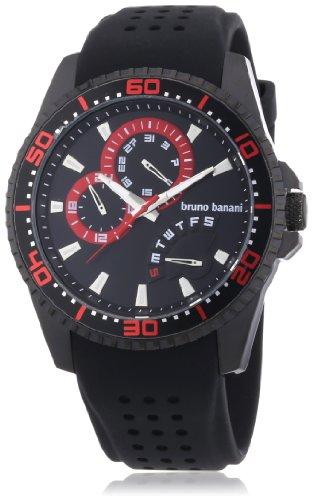 Bruno Banani - BR22007 - Montre Homme - Quartz Analogique - Bracelet Caoutchouc Noir