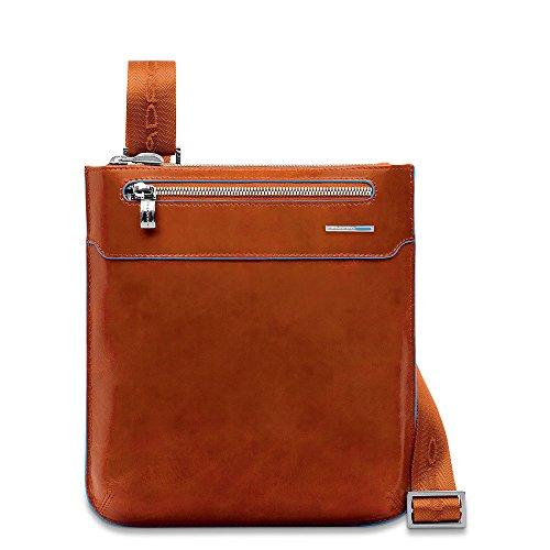 Piquadro Umhängetasche Borsello Blue Square Orange 1. L -
