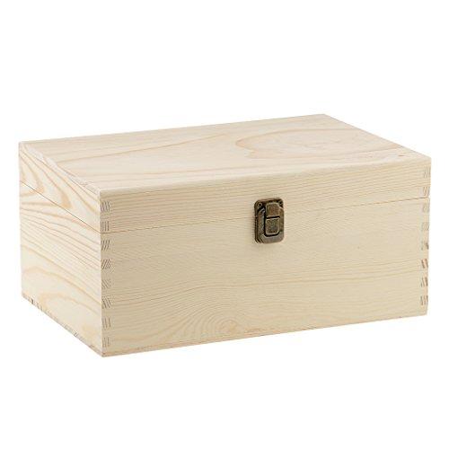 Sharplace Ätherisches Öl Holz Kasten ätherisches Öl Aufbewahrungsbox Holzkiste mit Deckel - #03 für 40 Flaschen