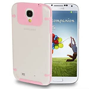 2-color Series (Scrub Plastic + Fluorescent Effect TPU) Case for Samsung Galaxy S4 / i9500 (Pink)