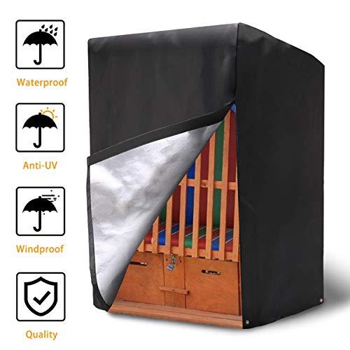NASUM Schutzhülle Strandkorb Abdeckung für Strandkorb aus 420D Oxford Gewebe 135x105x175/140cm