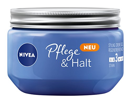 NIVEA 4er Pack Haar-Gel, Styling Creme Gel, Starker Halt, 4 x 150 ml Tiegel, Pflege & Halt -