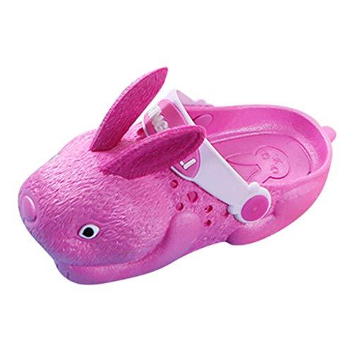 koperras Kaninchen Kinder Drinnen Und DraußEn Sandalen Hausschuhe Jungen Und MäDchen Strand rutschfeste Weichen Boden Kaninchen Loch Schuhe Niedlichen Einfarbigen Rutschfesten - Kostüm Kaninchen Loch