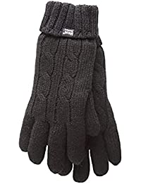 Heat Holders - Women's Thermal Heat weaver Cable Knit 2.3 tog Gloves - S/M