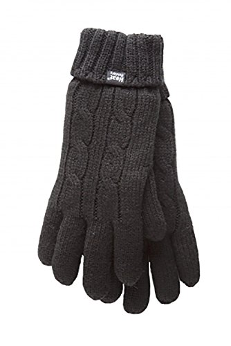 HEAT HOLDERS Damen Handschuhe, Einfarbig Gr. S/M, jet black