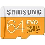Samsung Grade 1 Class 10 64GB Evo Micro SDHC Memory Card with SD Adapter