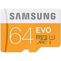 Samsung EVO Scheda MicroSDXC da 64 GB, UHS-I Grade 1, Class 10, Adattatore SD Incluso, Argento