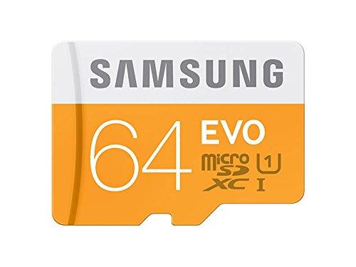 Samsung Carte Mémoire SDXC UHS-I EVO Micro SD Classe 10 64 Go Avec Adaptateur SD