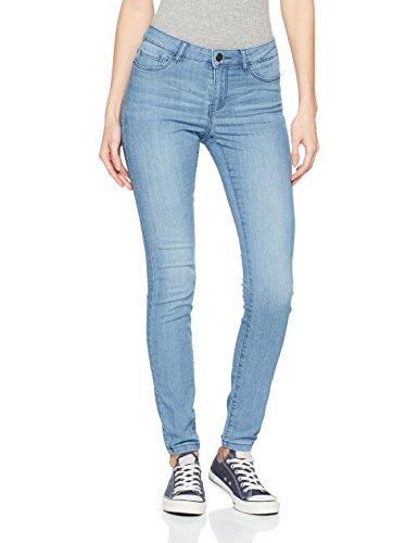 VERO MODA Damen Slim Vmseven NW SS Jeans LT BL VI608 Noos, Blau (Light Blue Denim), 36/L32 (Herstellergröße: S)