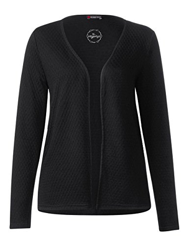 Street One Damen Strickjacke 311495 Schwarz (Black 10001)